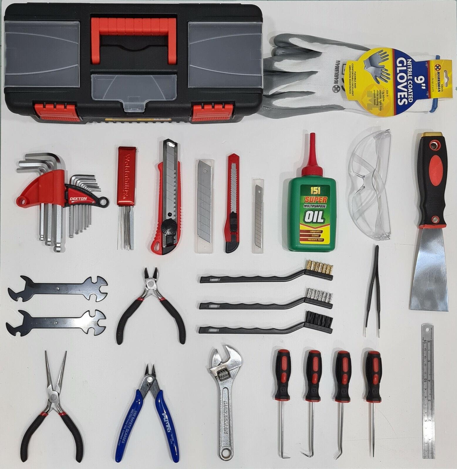 3D Printer FDM / FFF DIY Operation & Maintenance Toolkit & Safety PPE Set Bundle