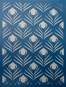 Scrapbooking STENCILS TEMPLATES MASKS SHEET Peacock Feather - Ebay background templates