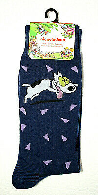 1 Pair Rocko/'s Modern Life/'s Dog Nickelodeon New Tags Blue Socks Fits 6-12 2018
