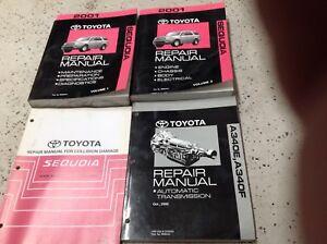 2001-Toyota-Sequoia-Servicio-Tienda-Reparacion-Manual-Juego-OEM-con-Cuerpo-amp