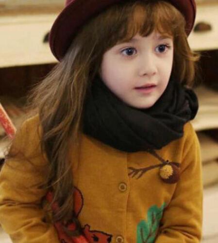 Children Kids Girls Boys Warm Cotton Plain Comfortable Soft Neck Scarf Wrap