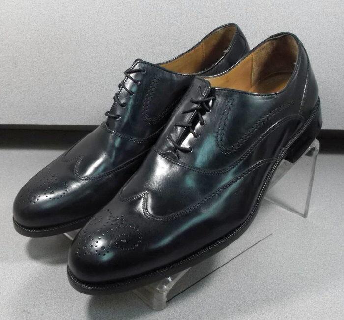 157071 MS50 Chaussures Hommes Taille 8.5 M Noir en Cuir à Lacets Johnston & Murphy