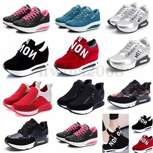Femmes-Fille-Sneakers-Course-Sport-Jogging-GYM-Chaussures-A-Lacets-Baskets-Shoes