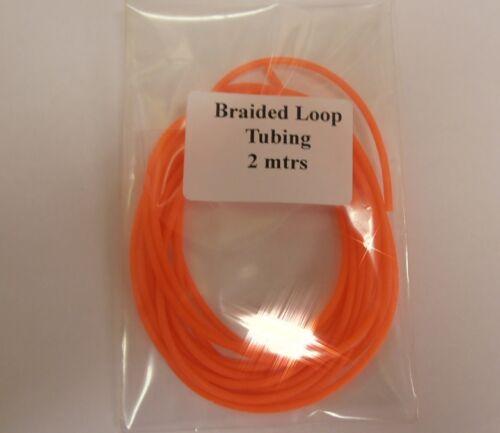 Flu Orange UFS Braided Loop Tubing 2mtrs