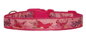 Bonito-Rojo-Cereza-MARIPOSAS-COLLAR-para-Perro-Grande-Mediano-2-5cm-amortiguado