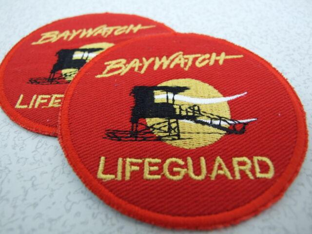 "4"" nbc baywatch bay watch la lifeguard swim suit embroidered iron."
