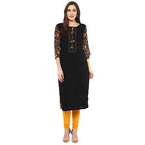 Indian Bollywood Designer Lagi Rayon Kurti Ethnic Style Dress Top Tunic Women