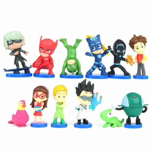 12PCS PJ Masks Cake topper Action Figur-Brand New /& Pack Spielzeug toy gift