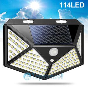 114-LED-Solar-Power-PIR-Motion-Sensor-Wall-Light-Outdoor-Garden-Lamp-Waterproof