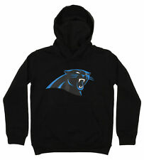 OuterStuff NFL Youth Carolina Panthers Primary Team Logo Fleece Hoodie, Black
