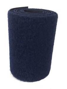 "1 m Cinta marca VELCRO® azul marino 145 - 10 cm pelo 100 mm coser hembra loop 4"""