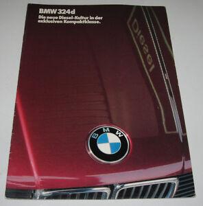 Auto Prospekt BMW 3er 324td Turbo Diesel Typ E30 / E30 Februar 1986! - Wilhelmshaven, Deutschland - Auto Prospekt BMW 3er 324td Turbo Diesel Typ E30 / E30 Februar 1986! - Wilhelmshaven, Deutschland