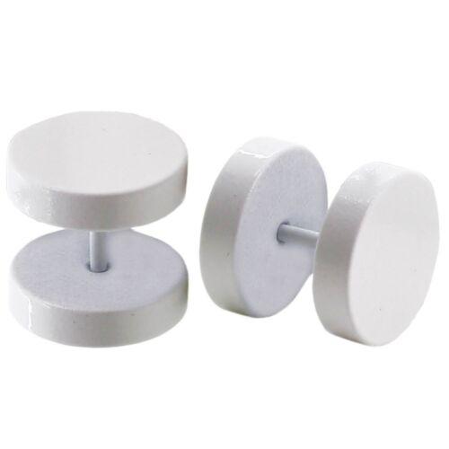 2 Fakeplugs Fake Plug Tunnel Piercing Ohrstecker Ohrring 6 8 10 12 14 16 18 mm