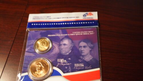 Zachary and Margaret Taylor. Presidential $1 Coin and First Spouse Medal Set