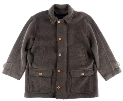 DAF David Fahner Brown Knit 100% Wool Duffel Coat… - image 1