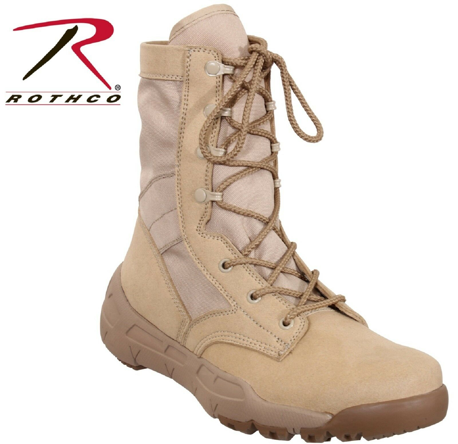 Lightweight V-Max Tactical Stiefel Stiefel Stiefel - Rothco Desert Tan 8.5  Field Duty Work Stiefel 410827
