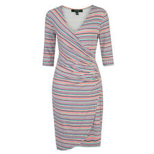 Fever London Tobago Side Ruched Dress Multi Size 18 BNWT RRP £59.99