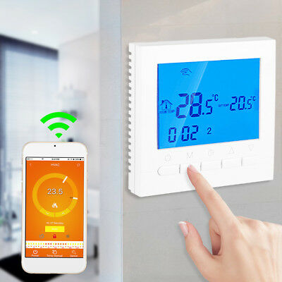 New Programmable Wifi Wireless Digital Thermostat LCD Touch Screen App Control