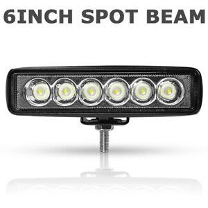 1X-6INCH-18W-LED-WORK-LIGHT-BAR-SPOT-BEAM-OFFROAD-ATV-FOG-TRUCK-LAMP-4WD-SUV-UTE