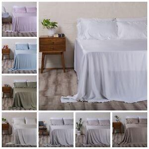 100% Organic Bamboo Bed Sheet Set 400TC - Multi Colours FREE SHIPPING