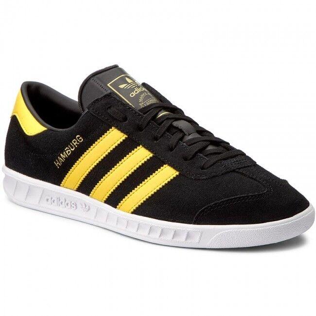 Adidas Retro Originals Negro Amarillo Gamuza Retro Adidas De Hamburgo Zapatos  Zapatillas Tamaño 612 Reino Unido 41cc7a