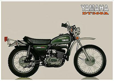 YAMAHA Poster DT360 DT360A RT1 RT2 RT3 1974 Suitable to Frame