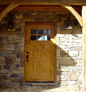 Details About Rustic Craftsman Knotty Alder Z Style Entry Door 42 X 80