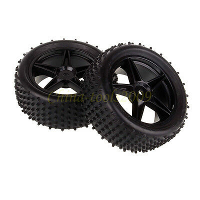 RC 1/10 Off Road Buggy Front Wheel Rim & Tyre,Tires Fit HSP HPI Redcat 66010