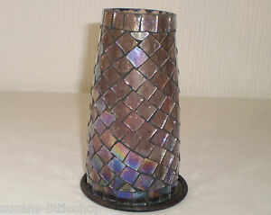 Purple-Glass-Mosaic-Beautifully-Handcrafted-Tealights-Candle-Holder
