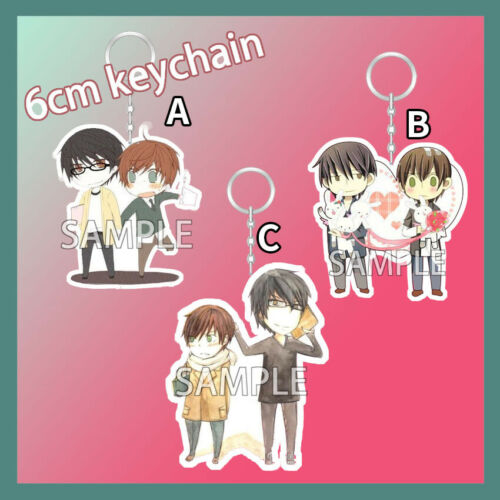 Acrylic Keychain Strap Keyring Sekai Ichi Hatsukoi Takano Onodera Yaoi Couples