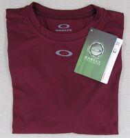 Oakley Men's Field Gear Control Athletic Performance T-shirt Maroon Small