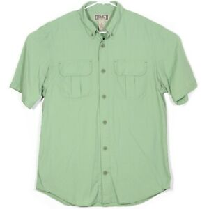 Duluth Trading Co Mens Hiking Shirt Size M Green Nylon Camping Fishing Vguc Ebay