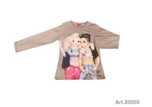 Top model t-shirt taille 128-164 automne//hiver t-shirt manches longues top model