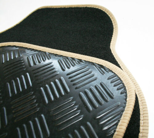 Bentley Continental GTC Black /& Beige Carpet Car Mats 05-11 Rubber Heel Pad