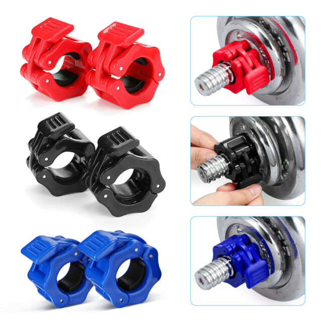 """4x Olympic Dumbbell Barbell Bar Lock 1/"""" Weight Clamps Collars Gym Training 25mm"""