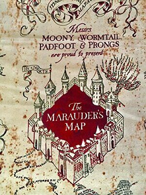 photograph regarding Marauders Map Printable referred to as Harry Potter Moony Marauders Map Print By means of the garden x43 within just Cotton print material eBay