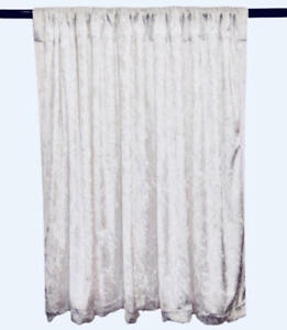 PANNE-VELVET-White-Crush-Velour-Curtain-Drape-Panel-Back-Drop-Made-in-the-USA