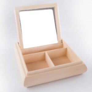 Wooden-Jewellery-Storage-Box-With-3-Compartments-and-Mirror-Plain-Decoupage-Art