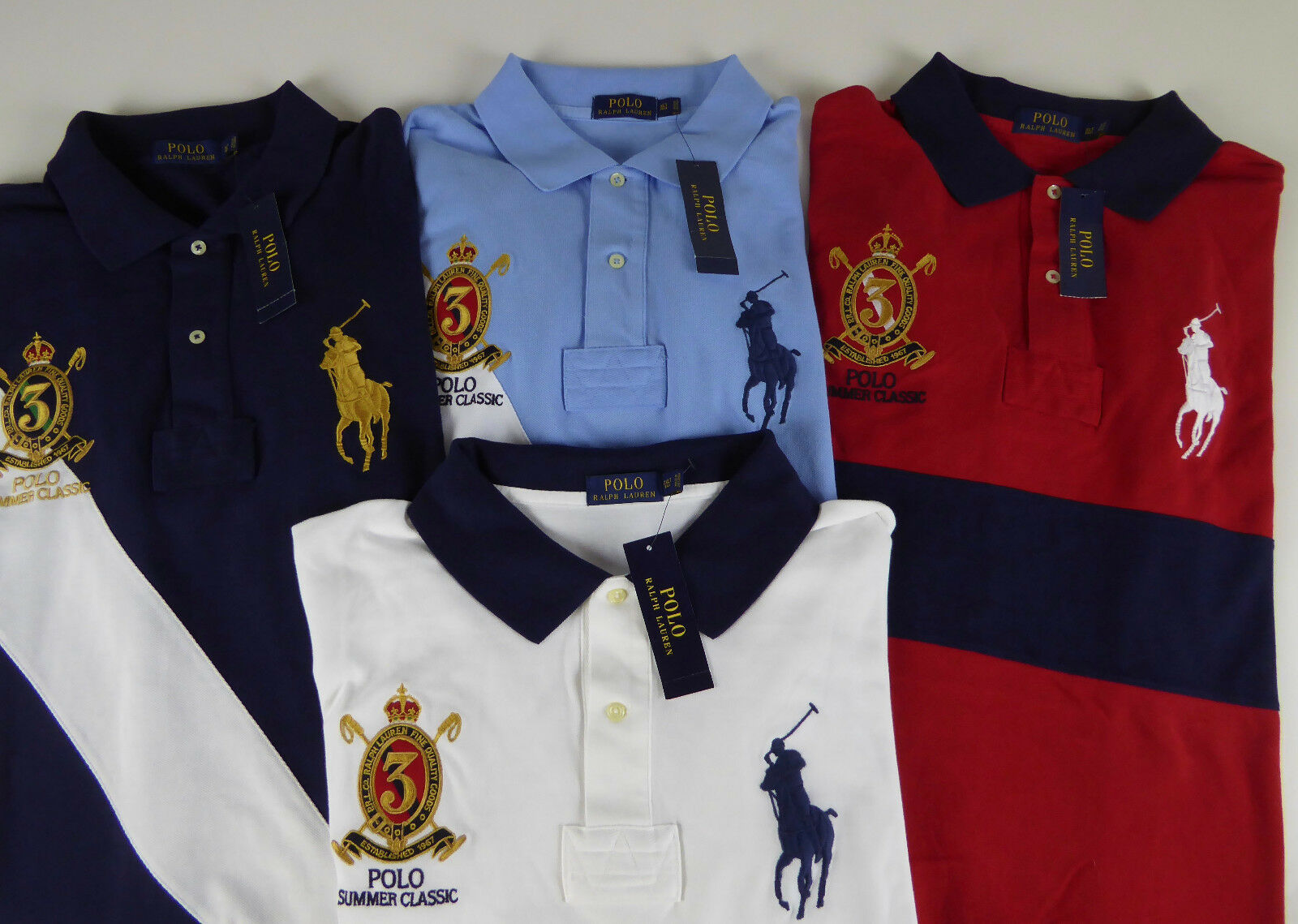 Polo Ralph Lauren SS Big Pony 100% Cotton Mesh Rugby Shirt  NWT Sash   Crest