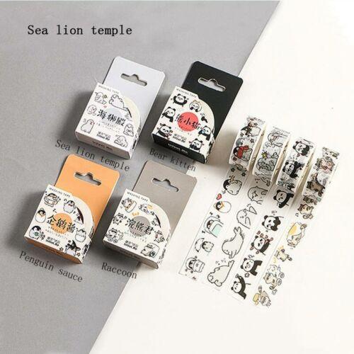 1PC Animals Adhesive Tape Sticker Sticky DIY Decorative Washi Tapes Cute