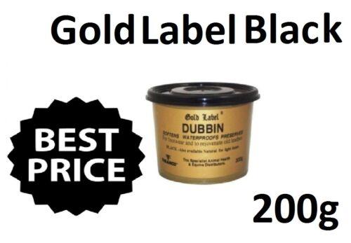 Softens Waterproofs Preserves Gold Label Dubbin Black 200G