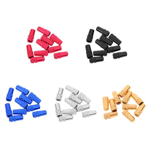 10Pcs Presta//French Valve Caps Multi-Colors Aluminum Alloy Bike Tire Valve Caps