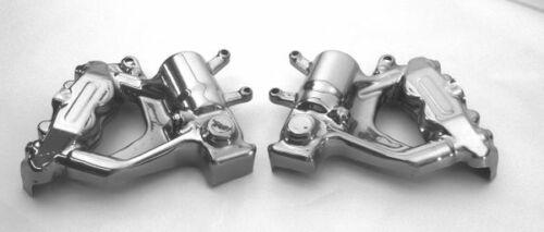 Chrome Lower Fork and Brake Caliper Covers for 08-18 Suzuki Hayabusa