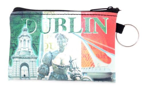 Irish Dublin Icons Tricolour Travel Keyring Small Card Coin Zipped Purse