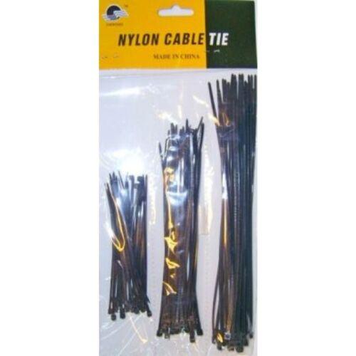 paquet de 75 colliers de serrage plastique type colson rislan 3 tailles