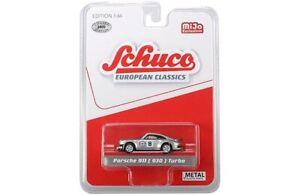 Schuco-8800-European-Classics-1-64-Porsche-911-930-Martini-Racing-Silver