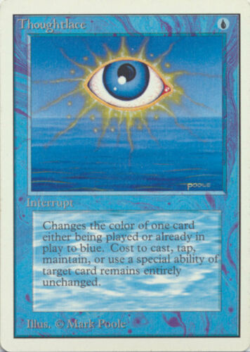 MTG Magic the Gathering Unlimited Thoughtlace /'LP LIGHT PLAY Condition!