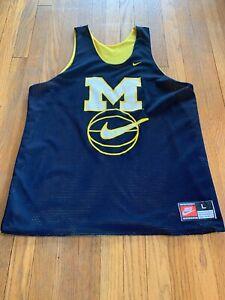 Michigan-Wolverines-Vintage-Nike-Jersey-Fab-5-Reversible-Warmup-Size-L-EUC-RARE