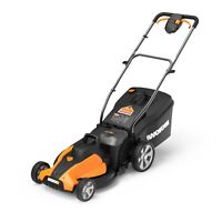 Deals on WORX WG744 2X20V PowerShare 17in Electric Lawn Mower Open Box