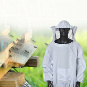 Anti Bee Beekeeping Suit Protective Costume Jacket With Hood Practical
